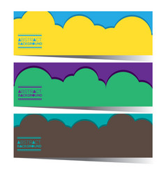 Set of three colorful graphic horizontal banners vector