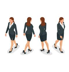 Set of working elegant business women in formal vector