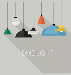 home lighting banner vector image