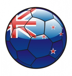 flag of New Zealand on soccer ball vector image