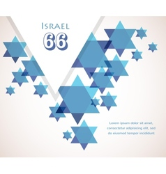 Independence day of Israel David star background vector image