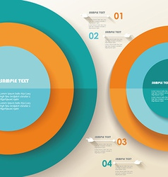 3D Infographic Can be used for number options vector image