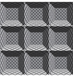 3d architectural seamless pattern vector image