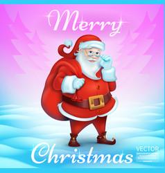 3d realistic santa claus cartoon cute character vector image