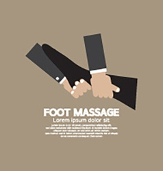 Foot massage relaxing vector