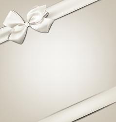 White gift bow vector