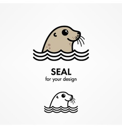 Seal head vector
