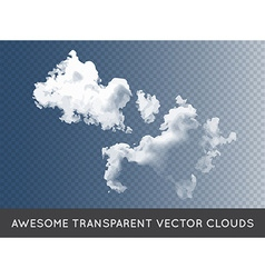 Transparent clouds can be used with any background vector
