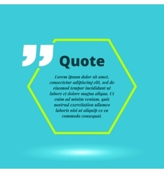 Moderrn quote blank template concept vector