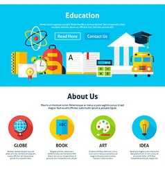Education flat web design template vector