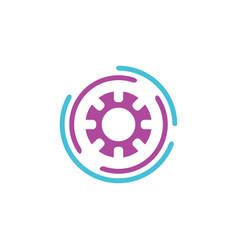 abstract flow logo template design vector image