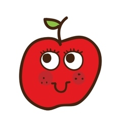 apple character isolated icon design vector image