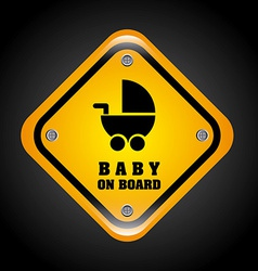 Baby on board design vector