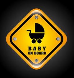baby on board design vector image