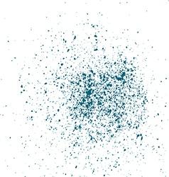 Blue light ink paint splatter on white background vector