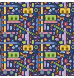 Boys toy pattern vector image vector image
