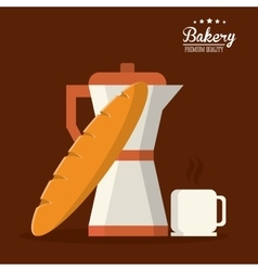 Bread bakery coffee icon graphic vector