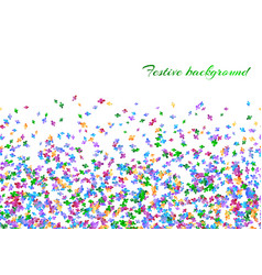 Celebration background with confetti vector