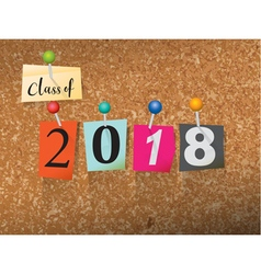 Class of 2018 Concept vector image vector image