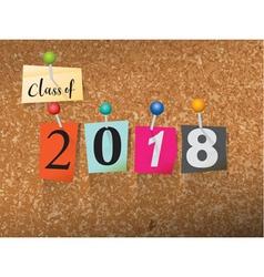 Class of 2018 concept vector