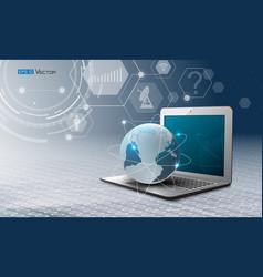 computer world and simbols vector image