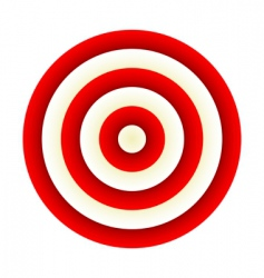 darts red target vector image vector image