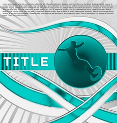 dynamic sport series surfing vector image vector image