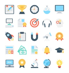Education colored icons 1 vector