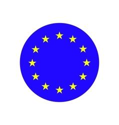 European Union EU flag vector image vector image