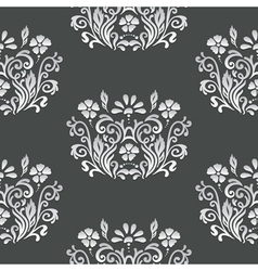 Floral retro paper pattern vector image vector image