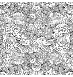 floral zentangle pattern for wedding invitation vector image vector image