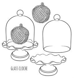 France glass cloche vector