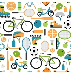 healthy sport pattern background vector image vector image