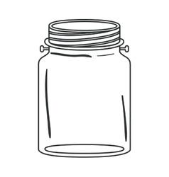 Isolated mason jar design vector