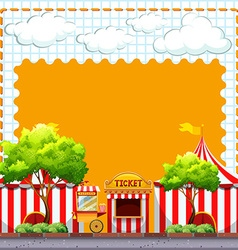Paper design with circus tents vector