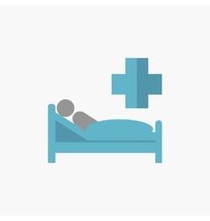 Patient flat icon vector