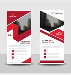 red label business roll up banner flat design vector image