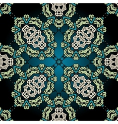 Seamless ornamental kaleidoscopic tile vector