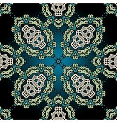 Seamless ornamental kaleidoscopic tile vector image vector image