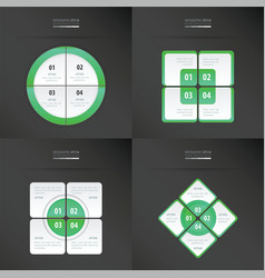 Set of presentation template neon green color vector