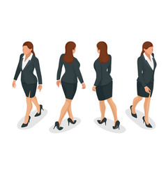 Set of working elegant business women in formal vector