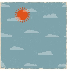 Sky with clouds and sun vector image vector image