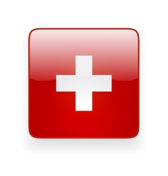 Square icon with flag of Switzerland vector image vector image