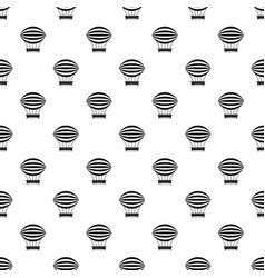 Striped retro hot air balloon pattern vector