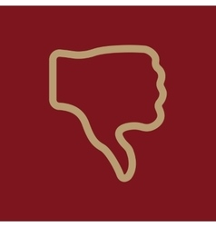 The thumb down icon rejected and no negative vector