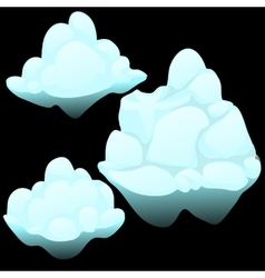 Three snow blocks ice iceberg vector