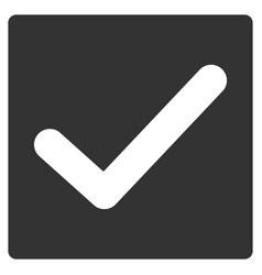 Valid tick flat icon vector