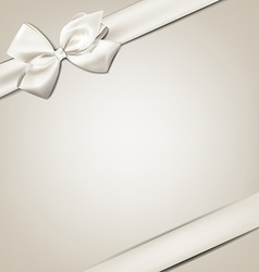 White gift bow vector image