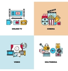 Entertainment cinema movie video concept vector