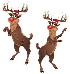Rudolph the reindeer dancing vector